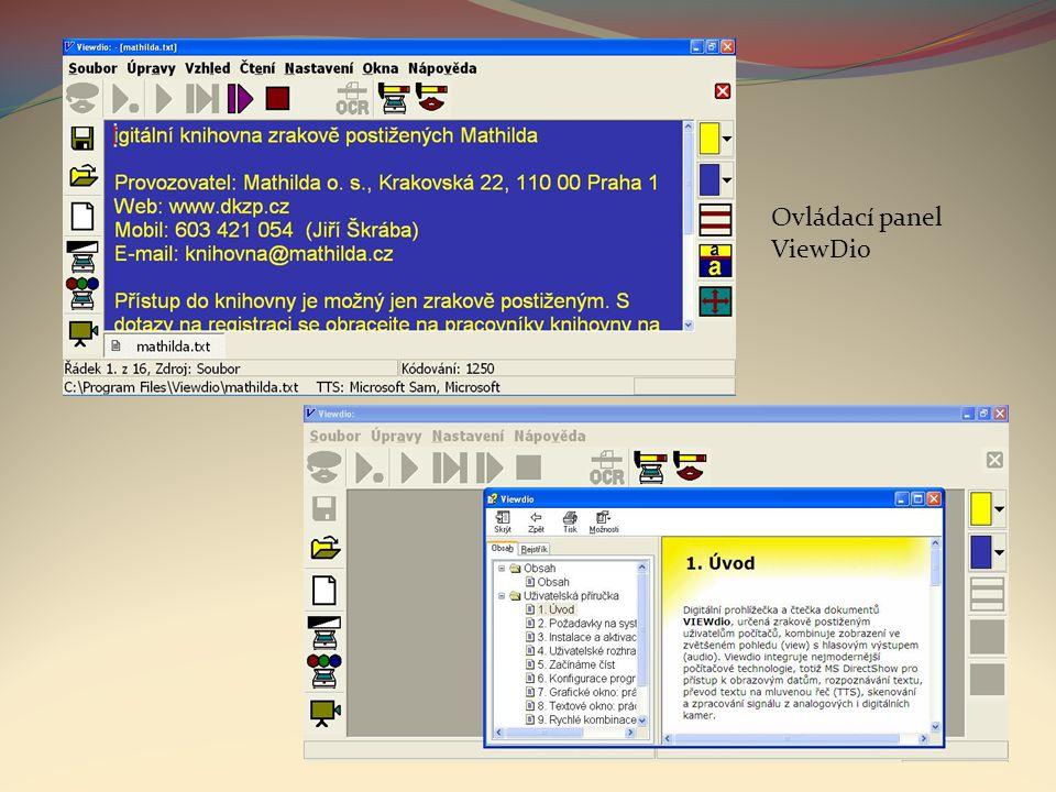 Ovládací panel ViewDio