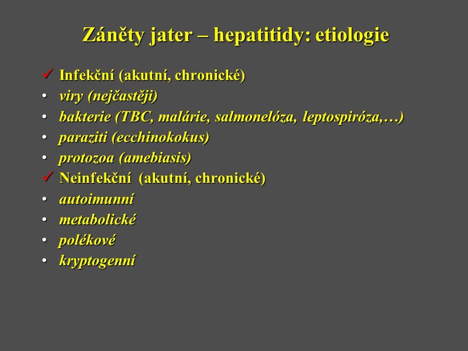 Záněty jater – hepatitidy: etiologie
