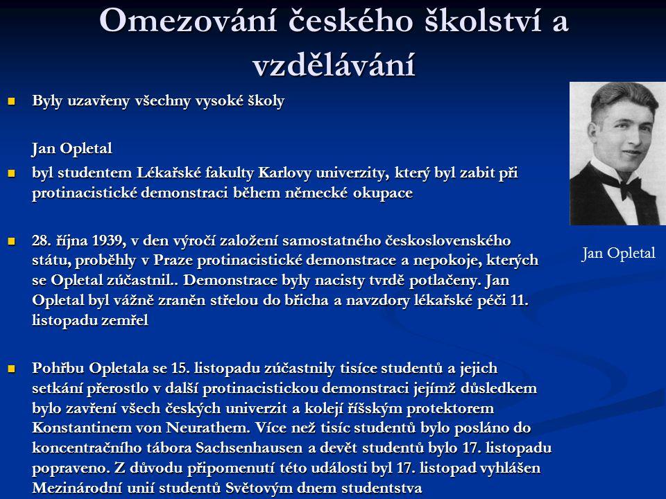 Omezování českého školství a vzdělávání