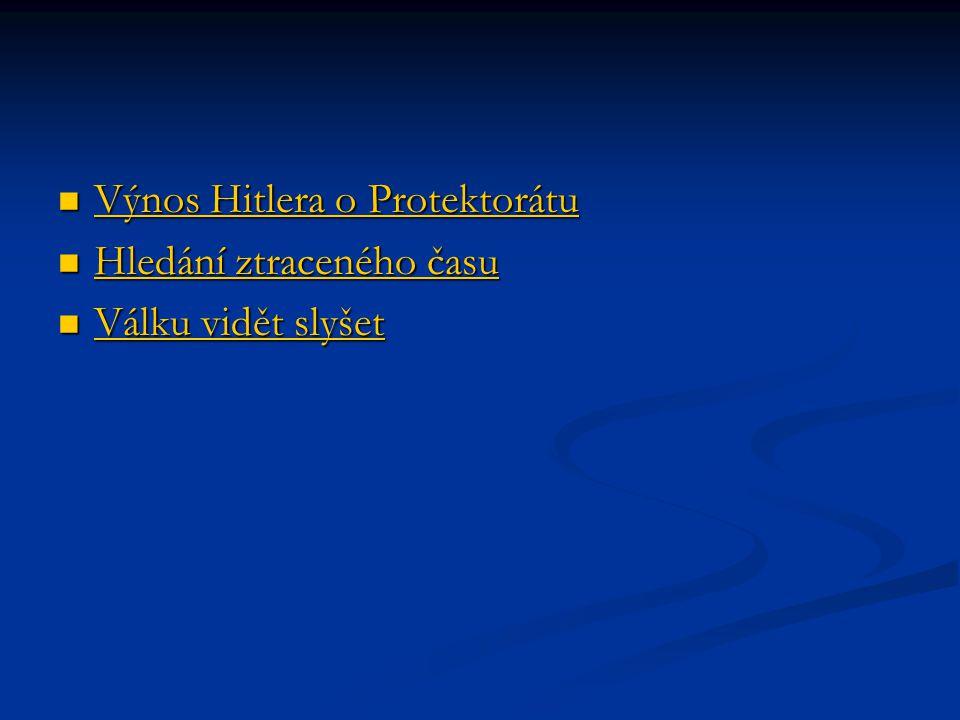 Výnos Hitlera o Protektorátu