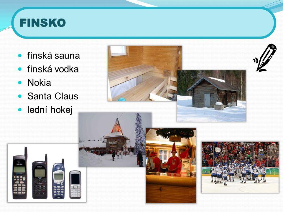 FINSKO finská sauna finská vodka Nokia Santa Claus lední hokej