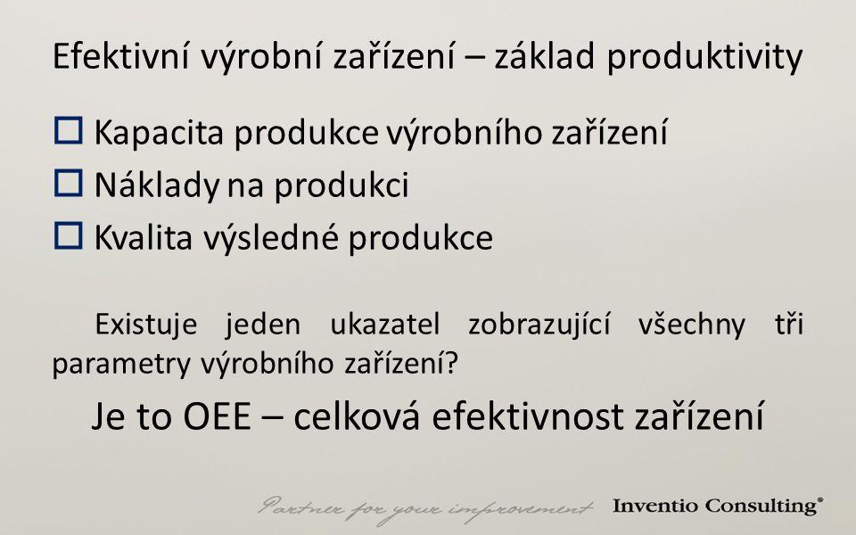 Efektivní výrobní zařízení – základ produktivity