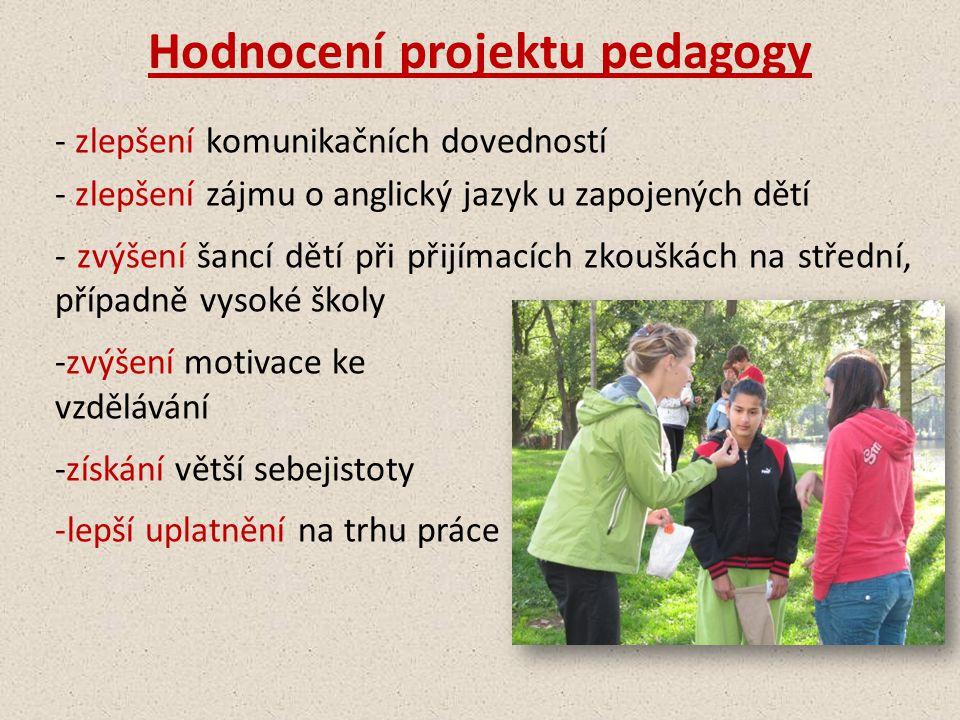 Hodnocení projektu pedagogy