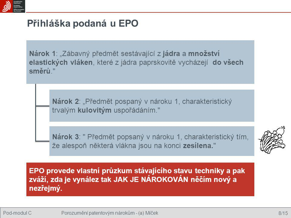 Přihláška podaná u EPO