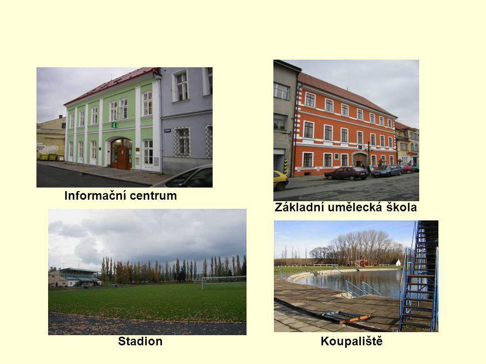 Informační centrum Základní umělecká škola Stadion Koupaliště