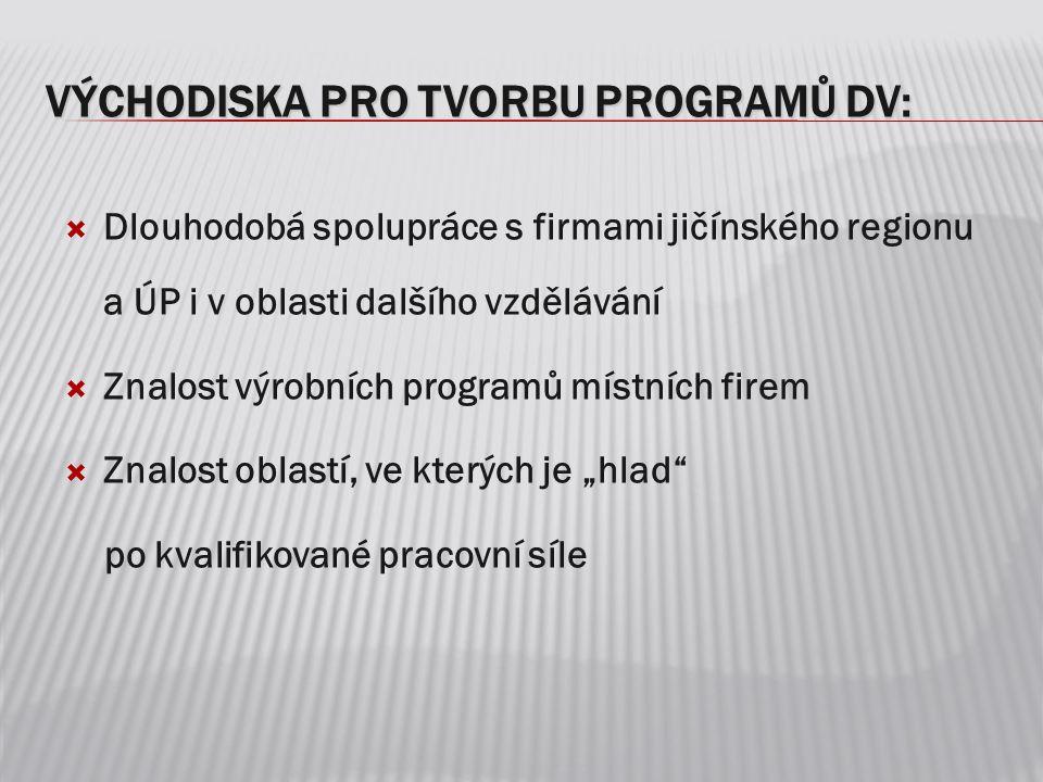VÝCHODISKA PRO TVORBU PROGRAMŮ DV: