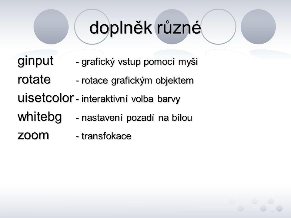 doplněk různé ginput - grafický vstup pomocí myši