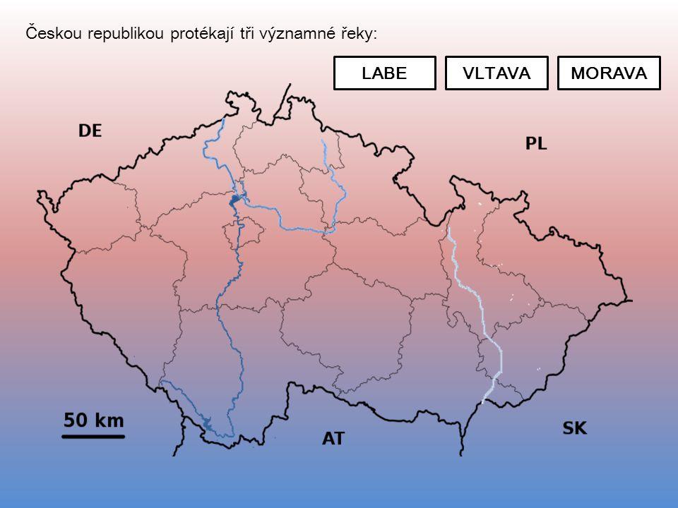 Českou republikou protékají tři významné řeky:
