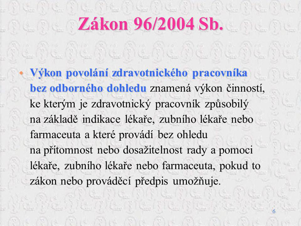 Zákon 96/2004 Sb.