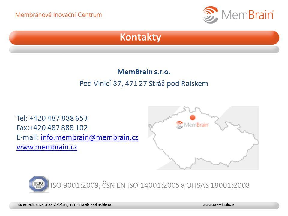 Kontakty MemBrain s.r.o. Pod Vinicí 87, 471 27 Stráž pod Ralskem