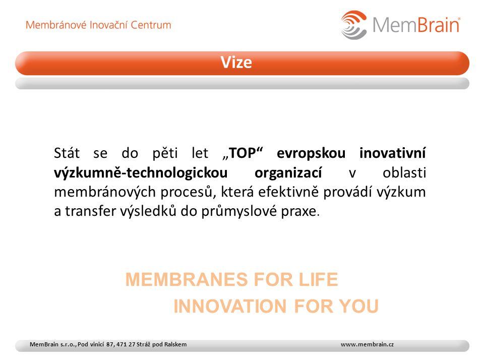 Vize MEMBRANES FOR LIFE
