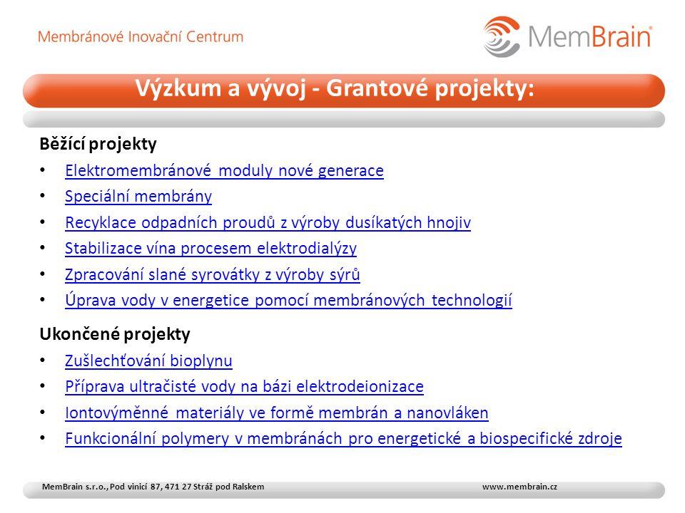 Výzkum a vývoj - Grantové projekty: