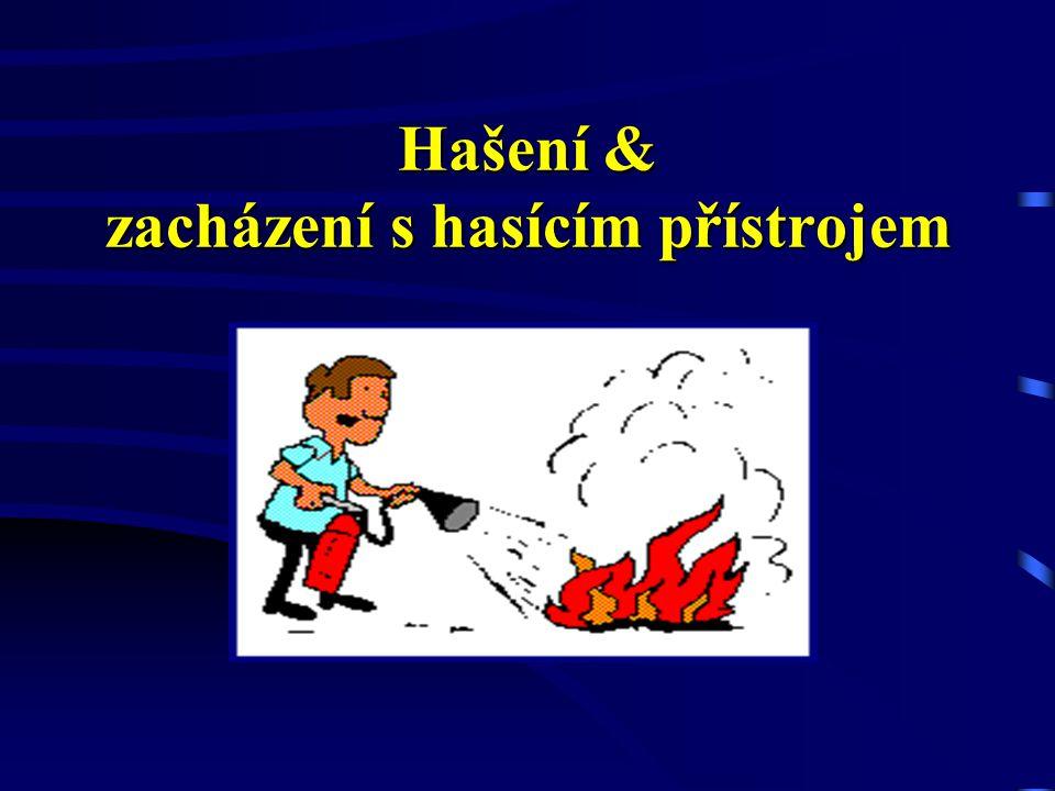 Hašení & zacházení s hasícím přístrojem
