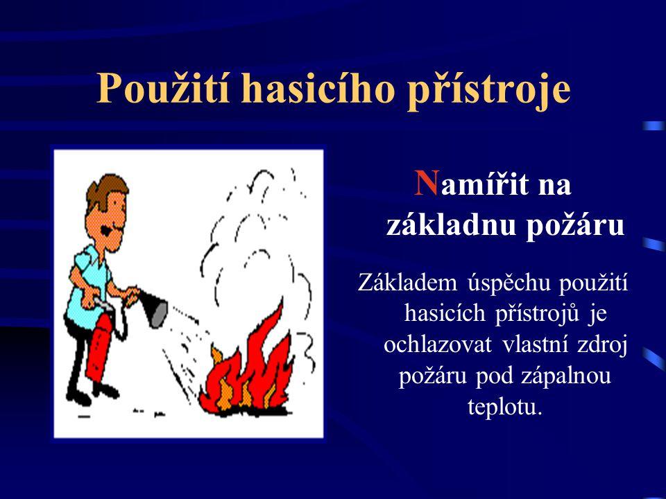 Použití hasicího přístroje