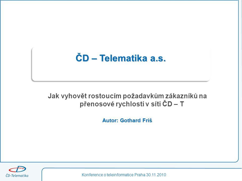 Konference o teleinformatice Praha 30.11.2010