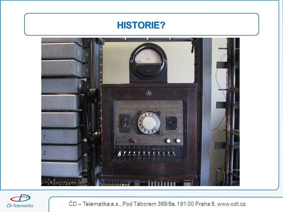 3.4.2017 HISTORIE ČD – Telematika a.s., Pod Táborem 369/8a, 191 00 Praha 9, www.cdt.cz 17