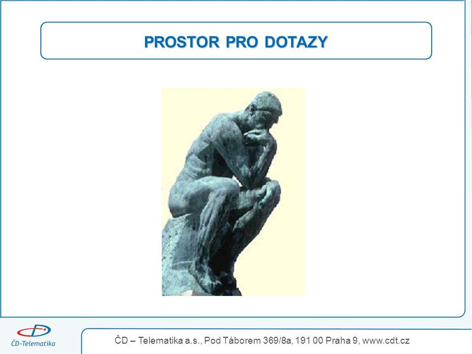 3.4.2017 PROSTOR PRO DOTAZY ČD – Telematika a.s., Pod Táborem 369/8a, 191 00 Praha 9, www.cdt.cz 18