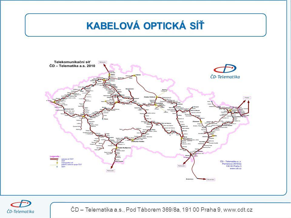 3.4.2017 KABELOVÁ OPTICKÁ SÍŤ. ČD – Telematika a.s., Pod Táborem 369/8a, 191 00 Praha 9, www.cdt.cz.