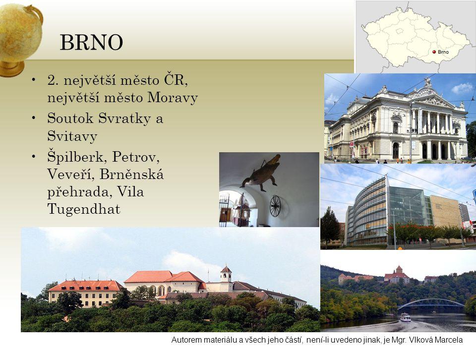 BRNO 2. největší město ČR, největší město Moravy