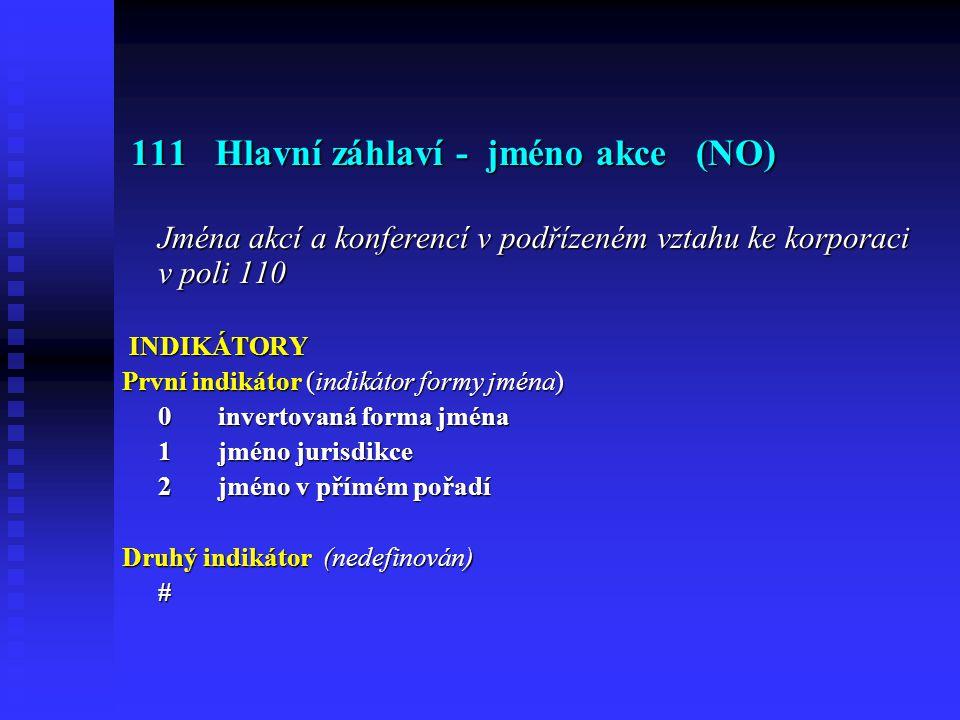 111 Hlavní záhlaví - jméno akce (NO)