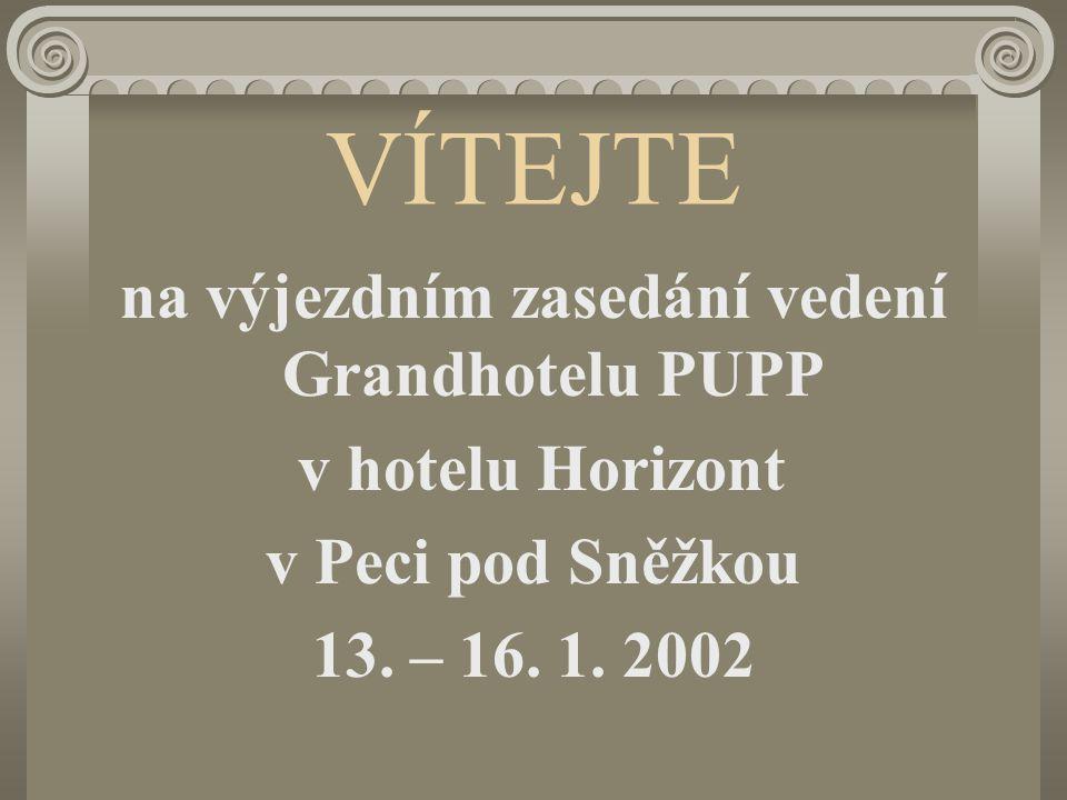 na výjezdním zasedání vedení Grandhotelu PUPP