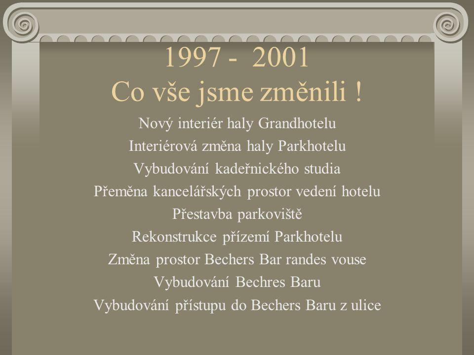 1997 - 2001 Co vše jsme změnili ! Nový interiér haly Grandhotelu