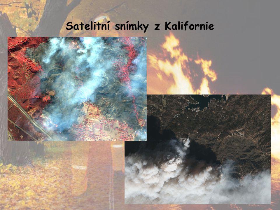 Satelitní snímky z Kalifornie
