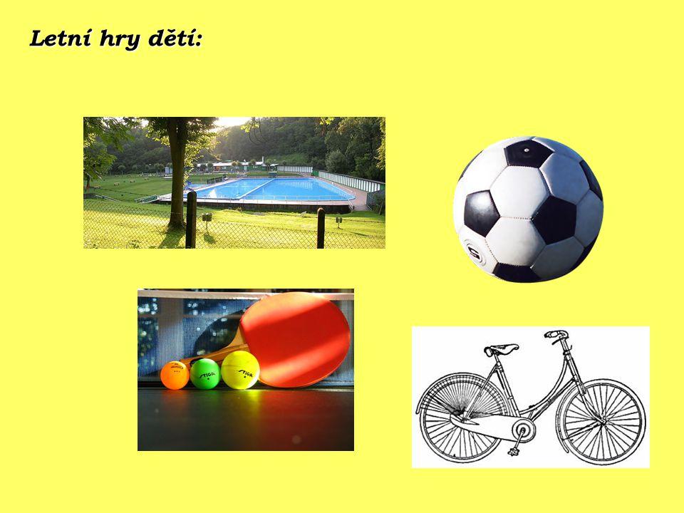 Letní hry dětí: