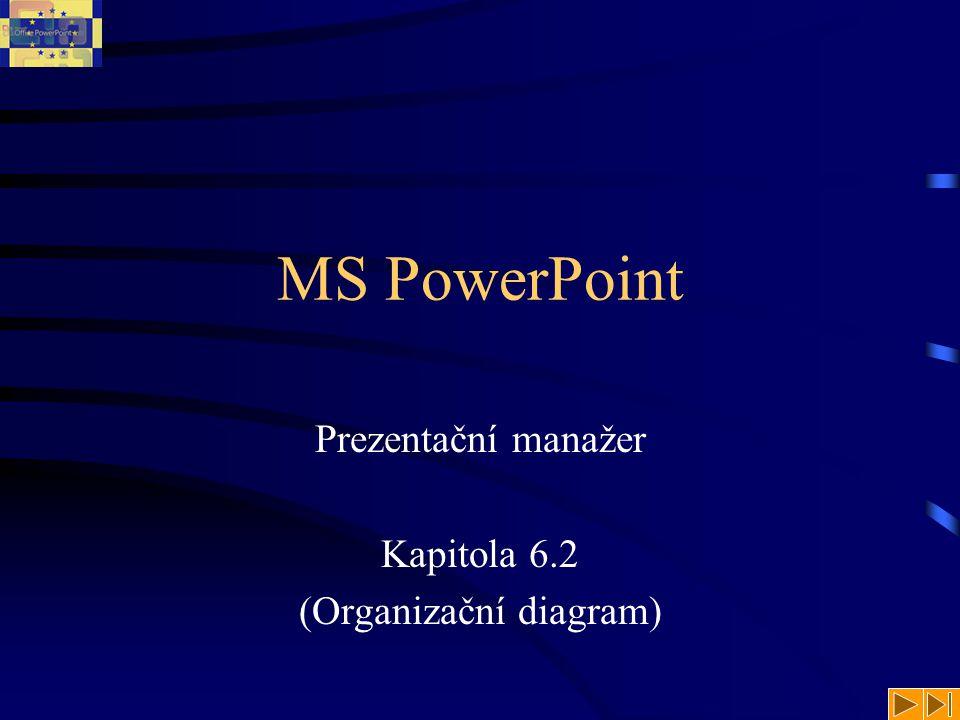 Prezentační manažer Kapitola 6.2 (Organizační diagram)