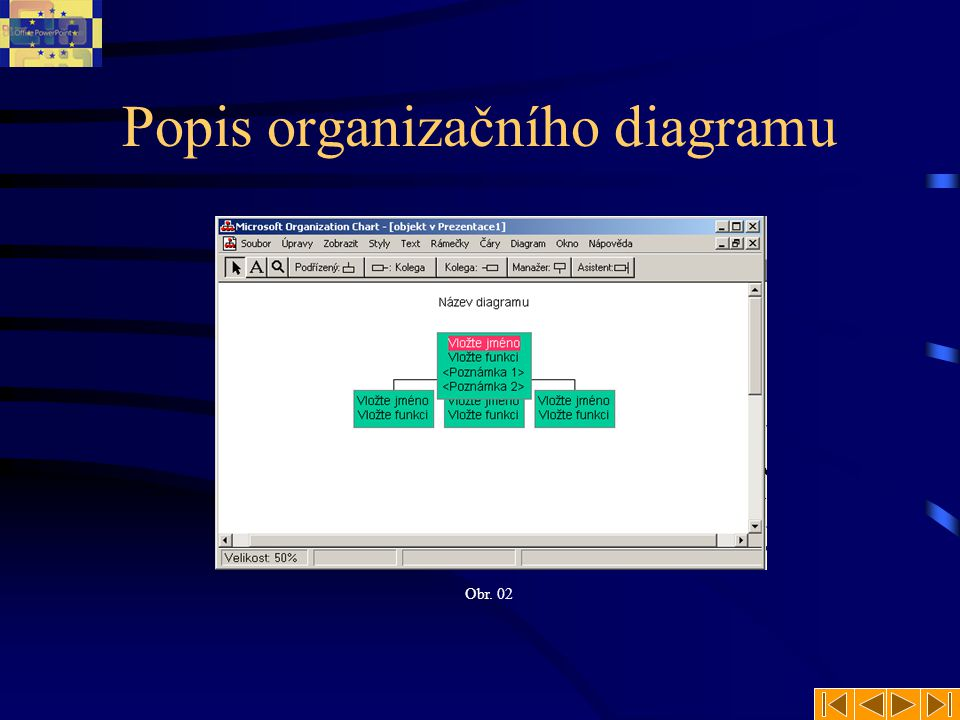 Popis organizačního diagramu