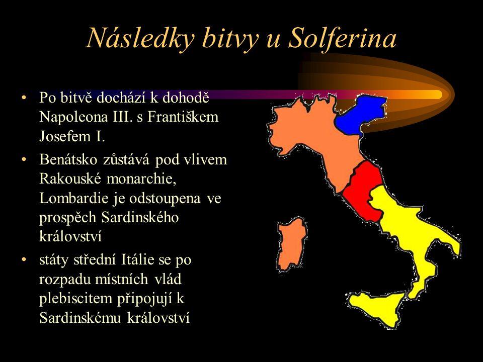Následky bitvy u Solferina
