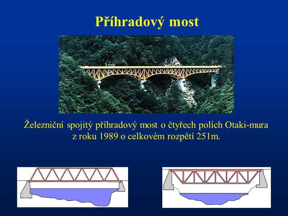 Příhradový most Železniční spojitý příhradový most o čtyřech polích Otaki-mura z roku 1989 o celkovém rozpětí 251m.