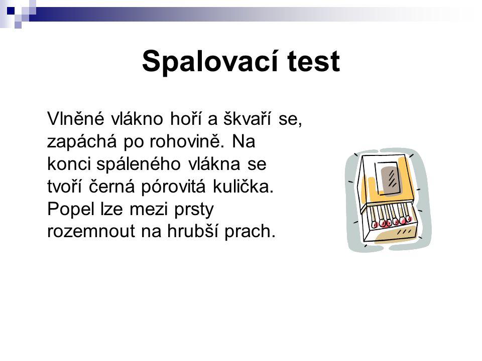 Spalovací test