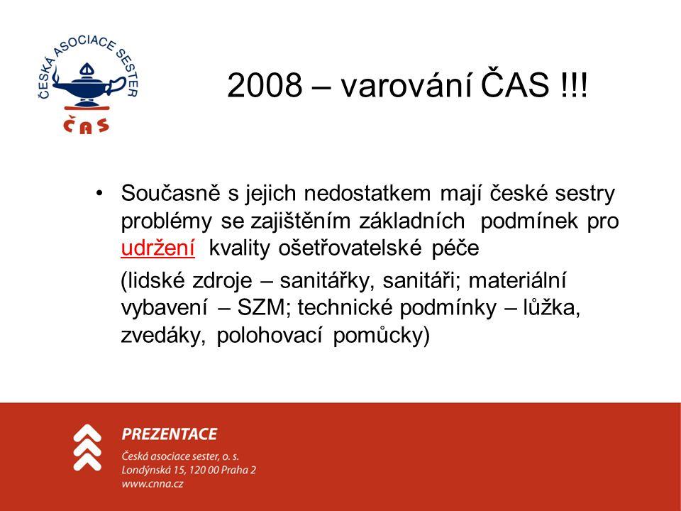 2008 – varování ČAS !!!