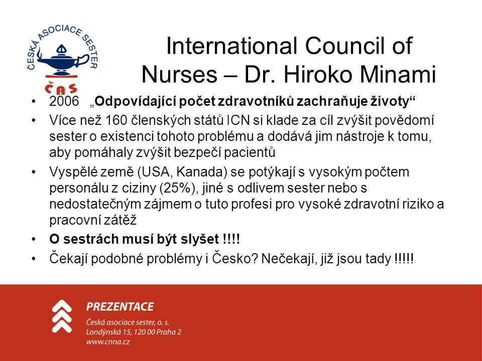 International Council of Nurses – Dr. Hiroko Minami