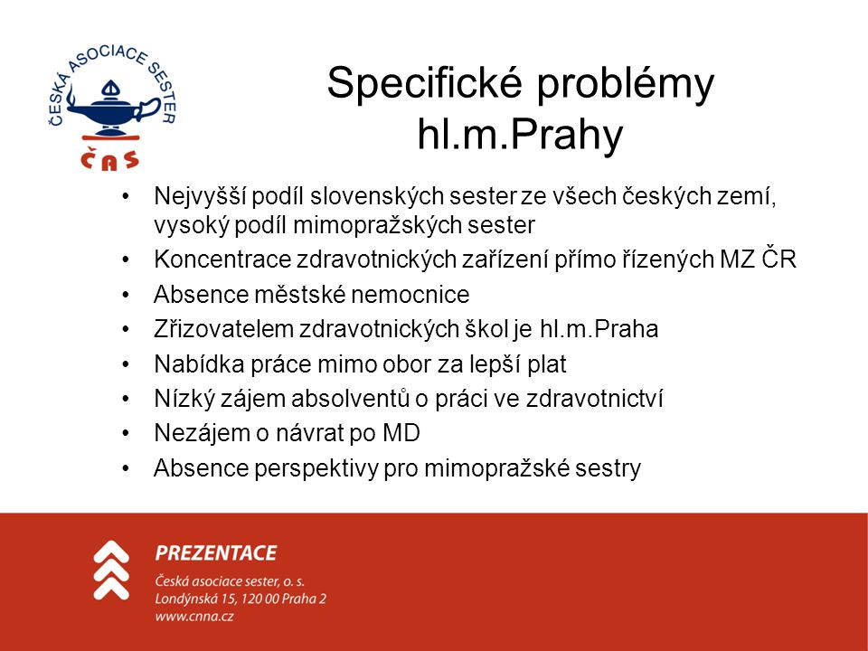Specifické problémy hl.m.Prahy