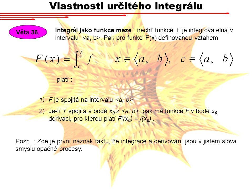 Vlastnosti určitého integrálu
