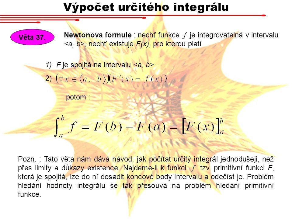 Výpočet určitého integrálu