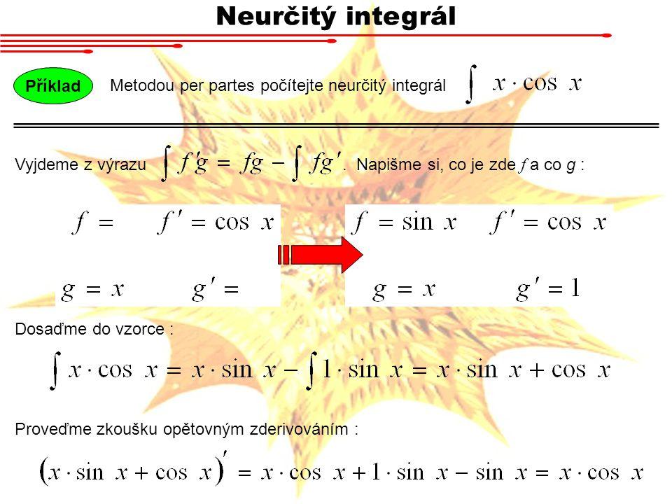 Neurčitý integrál Příklad