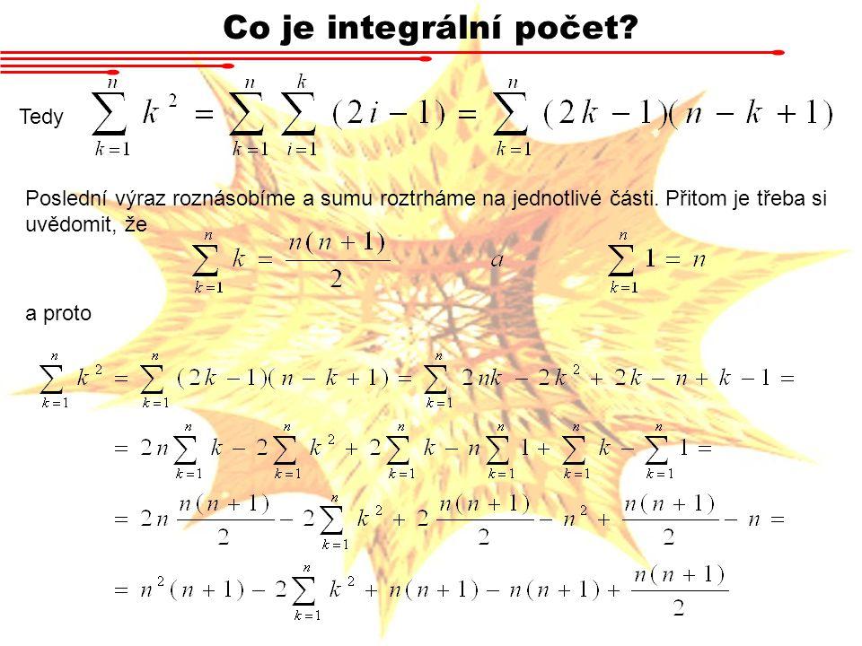 Co je integrální počet Tedy