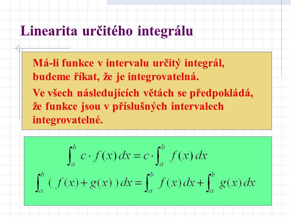 Linearita určitého integrálu