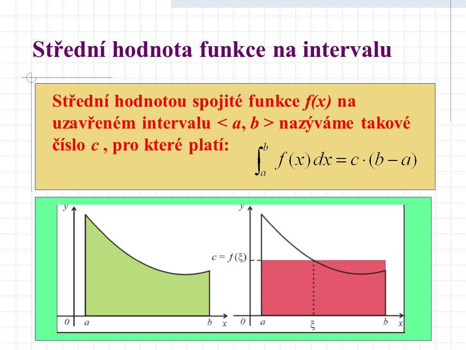 Střední hodnota funkce na intervalu