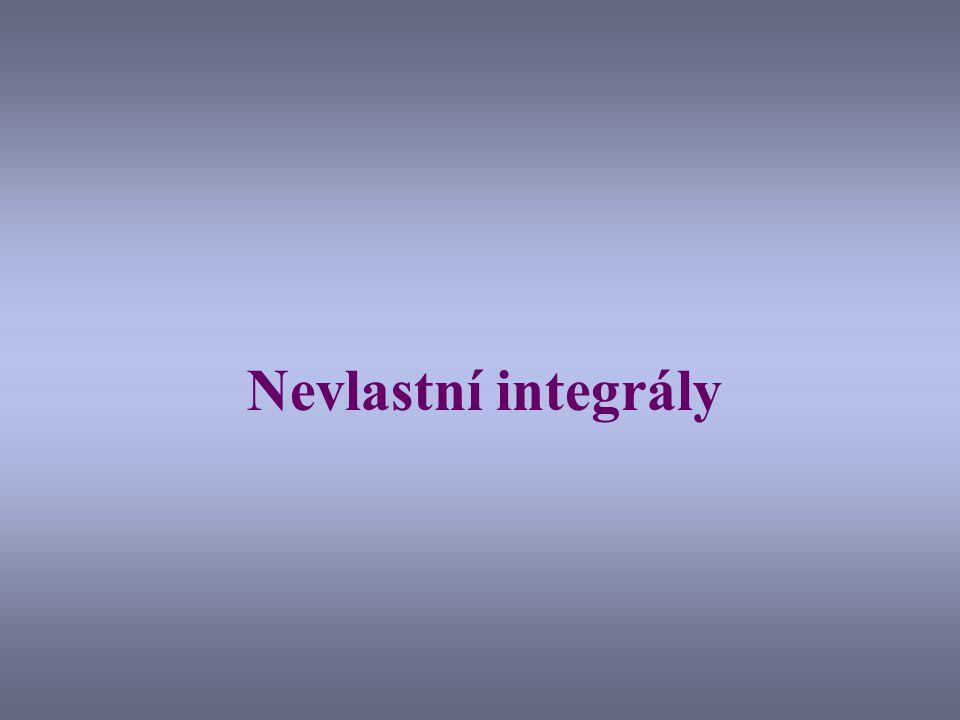 Nevlastní integrály