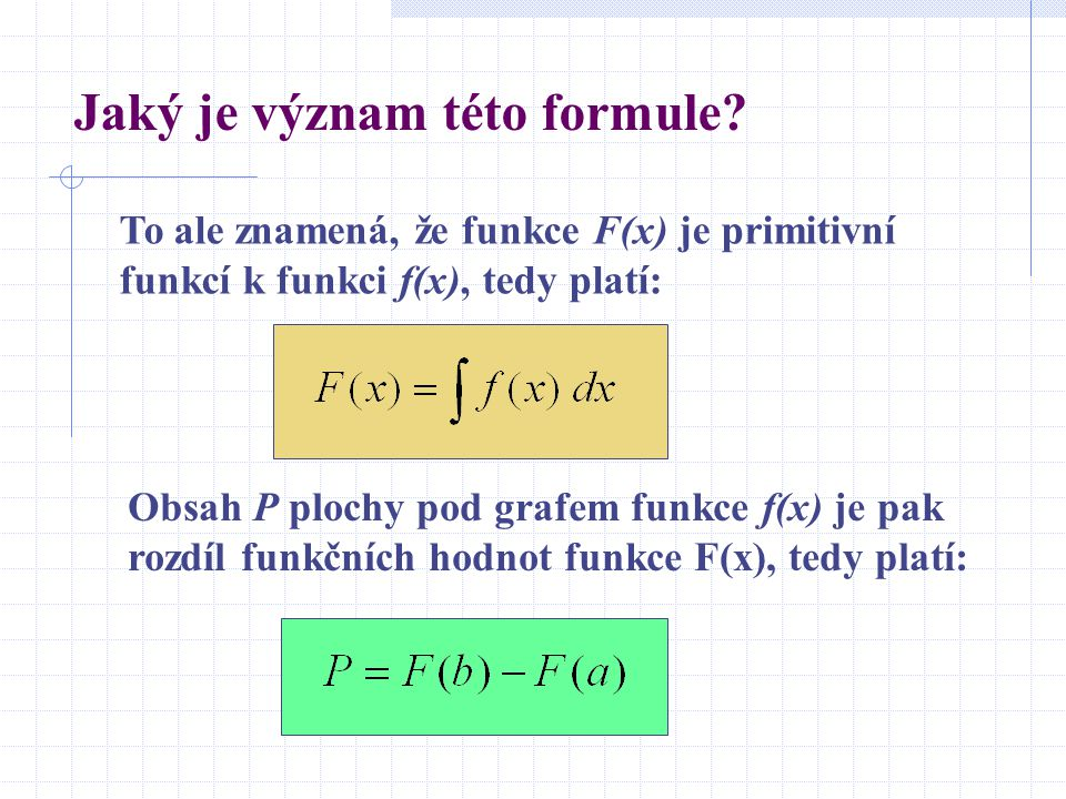 Jaký je význam této formule