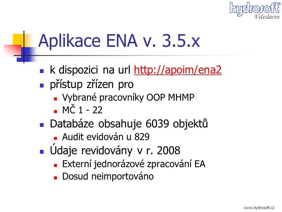 Aplikace ENA v. 3.5.x k dispozici na url http://apoim/ena2