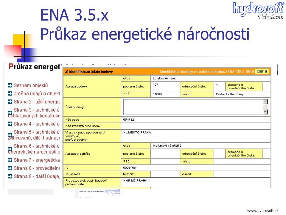 ENA 3.5.x Průkaz energetické náročnosti