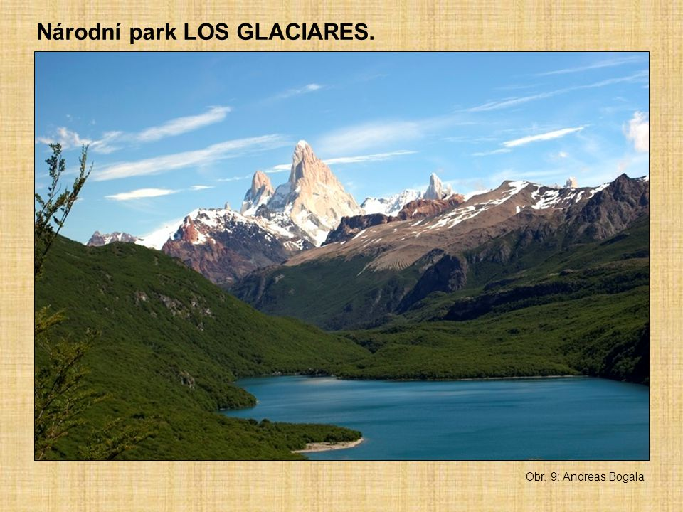 Národní park LOS GLACIARES.