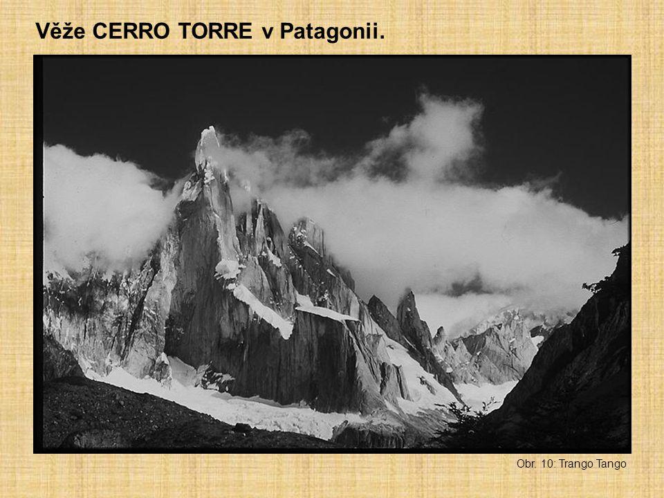 Věže CERRO TORRE v Patagonii.