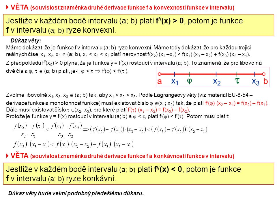 f v intervalu (a; b) ryze konvexní.