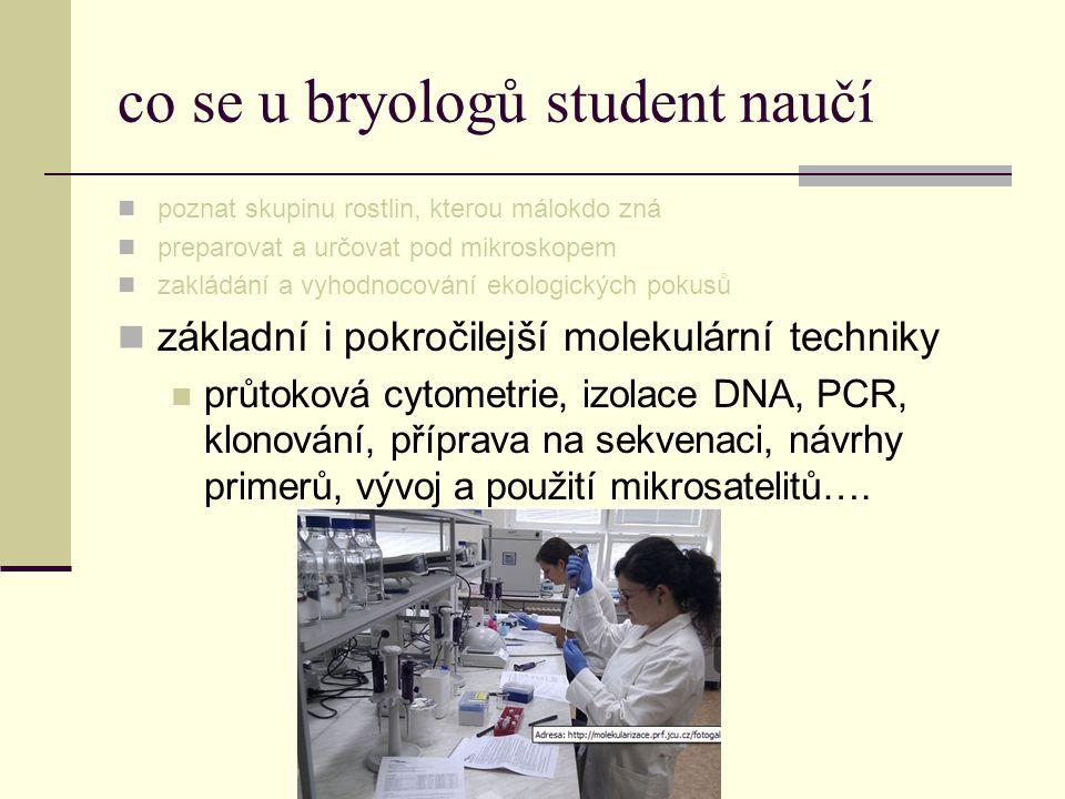 co se u bryologů student naučí